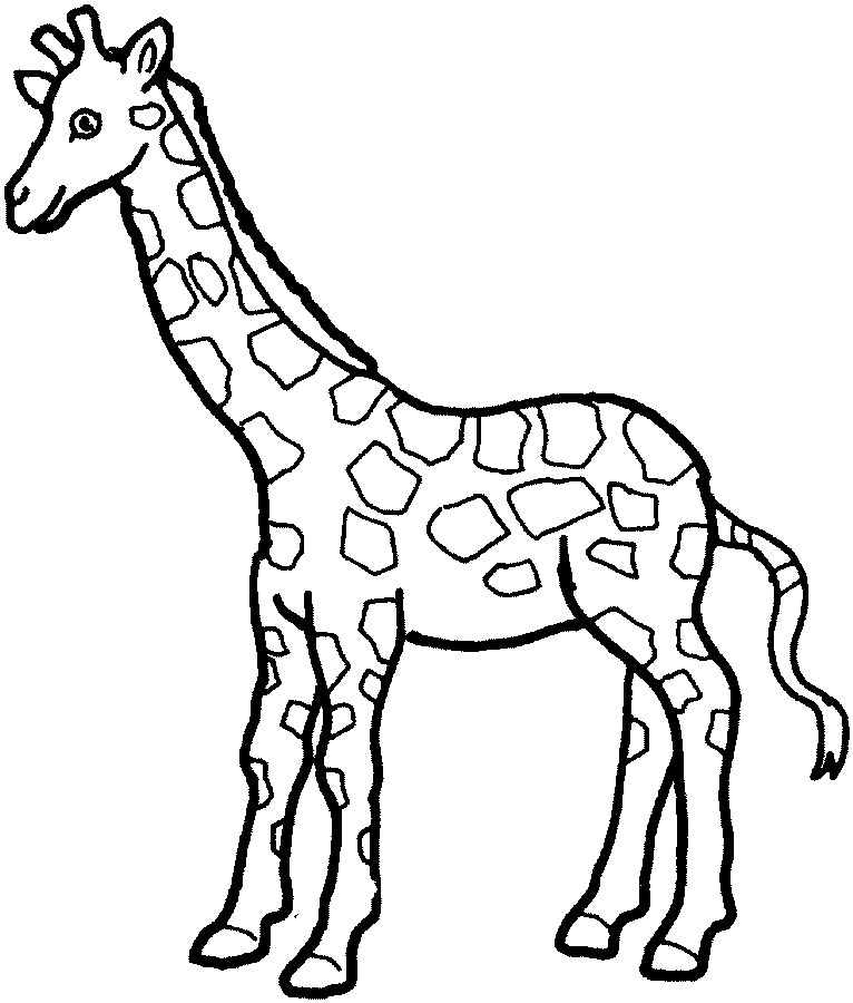 Challenger image with giraffe coloring pages printable